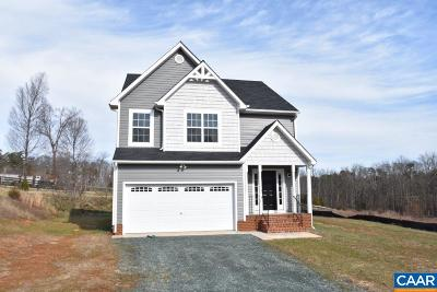 Fluvanna County Single Family Home For Sale: Lot 17 Cunningham Meadows Dr