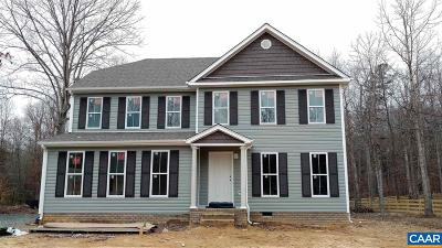 Fluvanna County Single Family Home For Sale: Lot 23 Indigo Ln #23