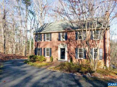 Charlottesville Single Family Home For Sale: 1895 Pine Cone Cir