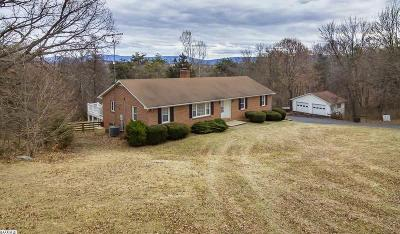 Staunton Single Family Home For Sale: 1704 Lee Jackson Hwy