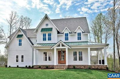Albemarle County Single Family Home For Sale: Lot 11 Waterside Wy