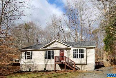 Fluvanna County Single Family Home For Sale: 18 E Point Rd