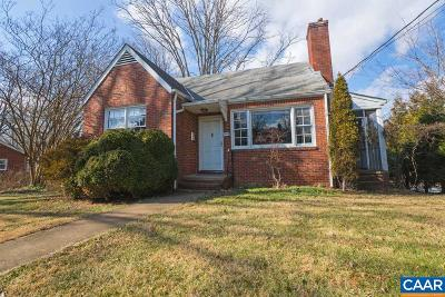 Charlottesville Single Family Home For Sale: 943 St Charles Ave