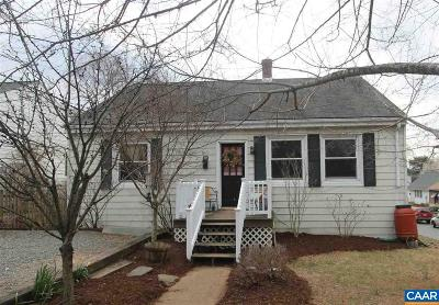 Charlottesville Single Family Home For Sale: 600 Elliott Ave