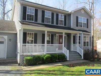 Fluvanna County Single Family Home For Sale: 61 Turkeysag Trl