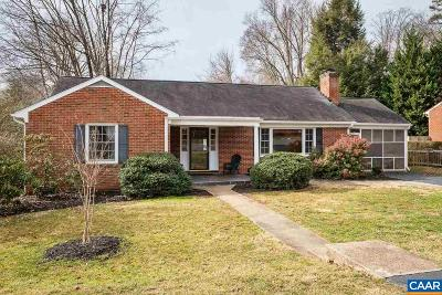 Charlottesville Single Family Home For Sale: 1308 Carter Ln