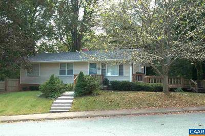 Charlottesville Single Family Home For Sale: 1021 Cottonwood Rd