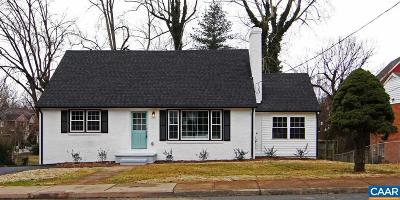 Charlottesville Single Family Home For Sale: 1512 Amherst St