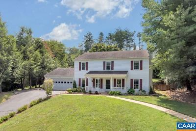 Charlottesville Single Family Home For Sale: 1087 Snowden Dr