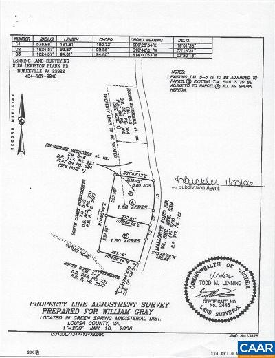 Louisa Lots & Land For Sale: Mallorys Ford Rd