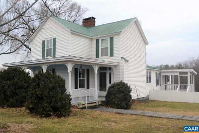 Fluvanna County Single Family Home For Sale: 14427 West River Rd