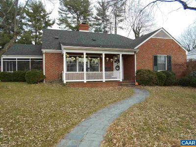 Charlottesville Single Family Home For Sale: 1017 Forest Hills Ave
