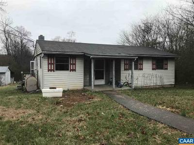 Scottsville VA Single Family Home For Sale: $64,900