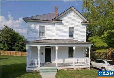 Charlottesville Single Family Home For Sale: 1105 Little High St