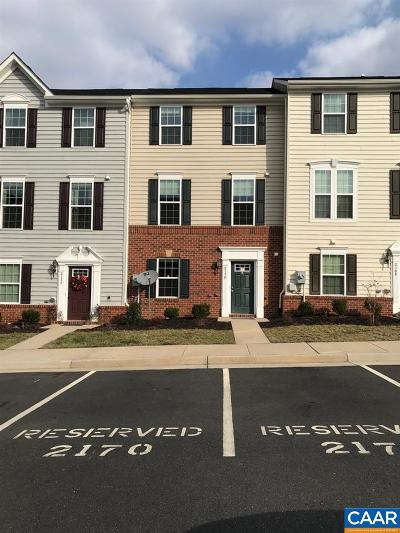 Pavilions At Pantops Townhome For Sale: 2170 Whispering Hollow Ln