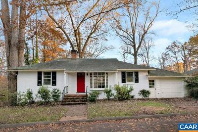 Charlottesville Single Family Home For Sale: 2657 Jefferson Park Cir