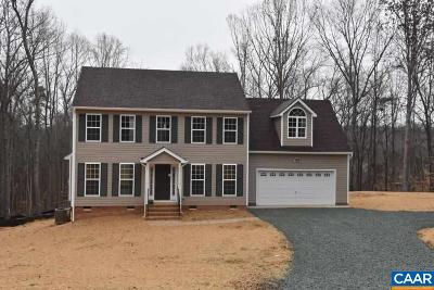 Fluvanna County Single Family Home For Sale: Lot 3 Shiloh Church Rd