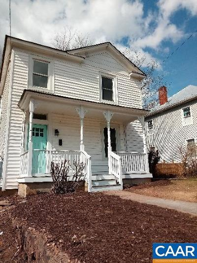 Charlottesville VA Single Family Home For Sale: $419,000