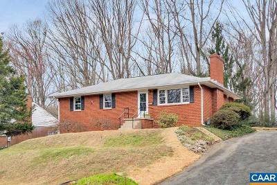Charlottesville Single Family Home For Sale: 2713 McElroy Dr