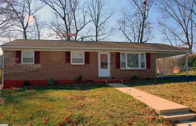 Staunton VA Single Family Home For Sale: $194,500