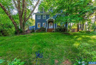 Charlottesville County Single Family Home For Sale: 921 Marshall St