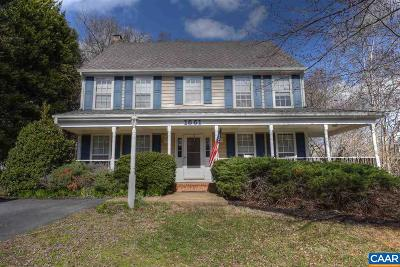 Charlottesville Single Family Home For Sale: 1661 Robin Hill Ct