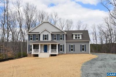 Gordonsville Single Family Home For Sale: Lot 6b Bowlers Mill Lane