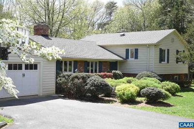 Charlottesville Single Family Home For Sale: 1560 Old Ballard Rd