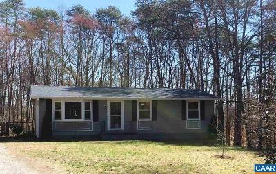 Albemarle County Single Family Home For Sale: 2833 Milton Rd