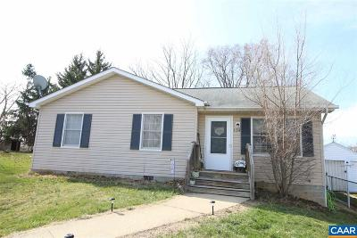 Staunton VA Single Family Home For Sale: $120,000