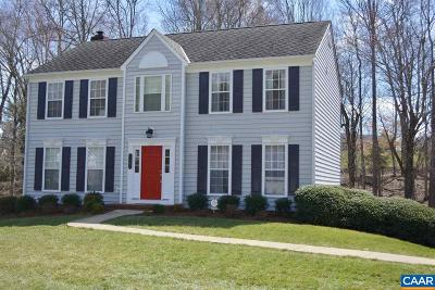 Charlottesville Single Family Home For Sale: 1167 Raintree Dr