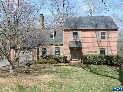 Charlottesville Single Family Home For Sale: 2580 Kimbrough Cir
