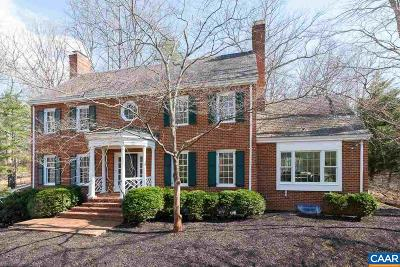 Charlottesville Single Family Home For Sale: 100 Fox Hill Rd