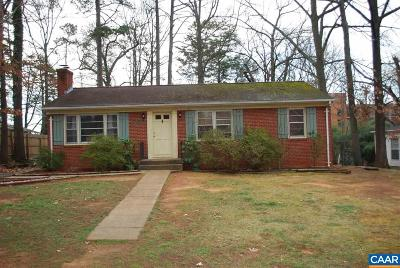 Charlottesville Single Family Home For Sale: 1913 Swanson Dr