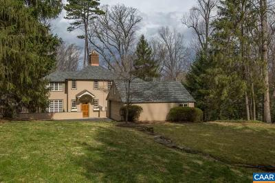 Charlottesville  Single Family Home For Sale: 1345 Hilltop Rd