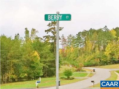 Fluvanna County Lots & Land For Sale: Lot 3 Berry Ct