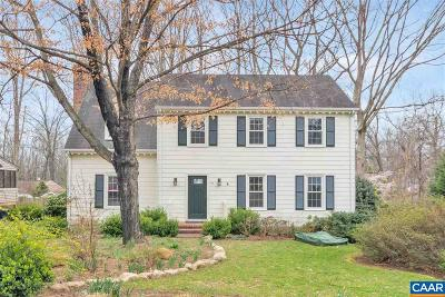 Charlottesville Single Family Home For Sale: 322 N Bennington Rd
