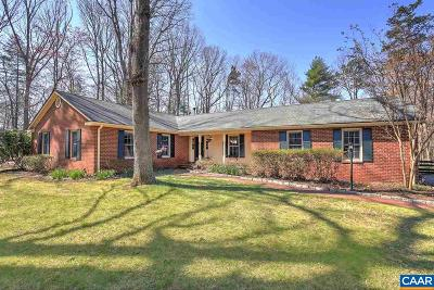 Charlottesville Single Family Home For Sale: 1355 Wendover Dr