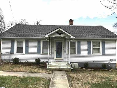 Staunton VA Single Family Home For Sale: $115,000