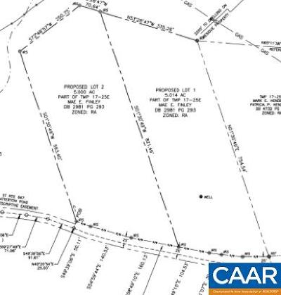 Albemarle County Lots & Land For Sale: Lot 1 Catterton Rd