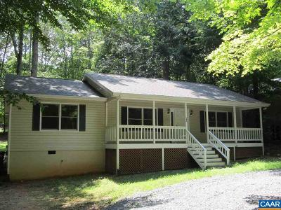Fluvanna County Single Family Home For Sale: 886 Jefferson Dr