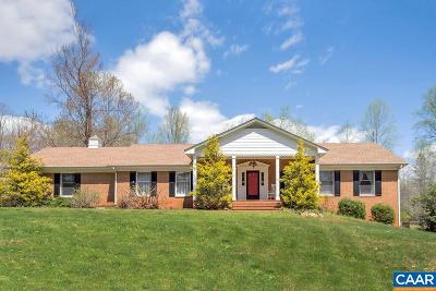 Fluvanna County Single Family Home For Sale: 2163 Gold Mine Rd