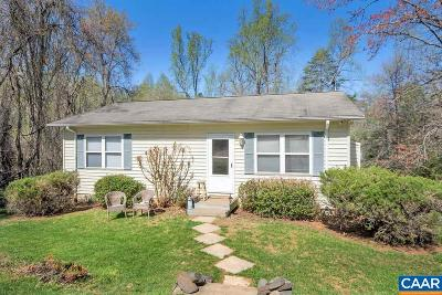 Charlottesville Single Family Home For Sale: 2142 Owensville Rd