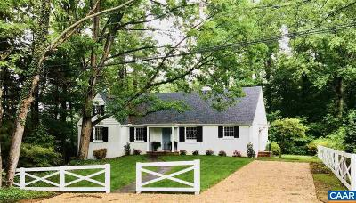 Charlottesville Single Family Home For Sale: 1893 Westview Rd