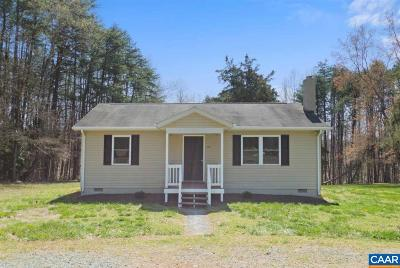 Fluvanna County Single Family Home For Sale: 3915 Stage Junction Rd