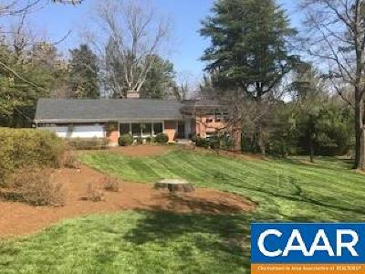 Charlottesville Single Family Home For Sale: 9 Old Farm Rd
