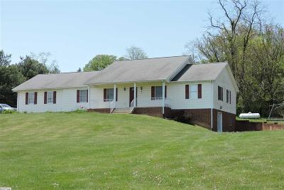 Staunton VA Single Family Home For Sale: $325,000