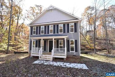 Fluvanna County Single Family Home For Sale: Lot 272 Zephyr Rd #Lot 272/