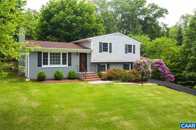 Charlottesville Single Family Home For Sale: 2410 Hillwood Pl