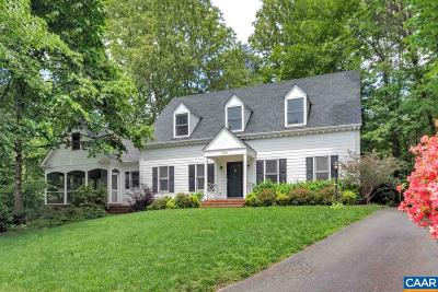 Charlottesville Single Family Home For Sale: 1821 Hearthglow Ln